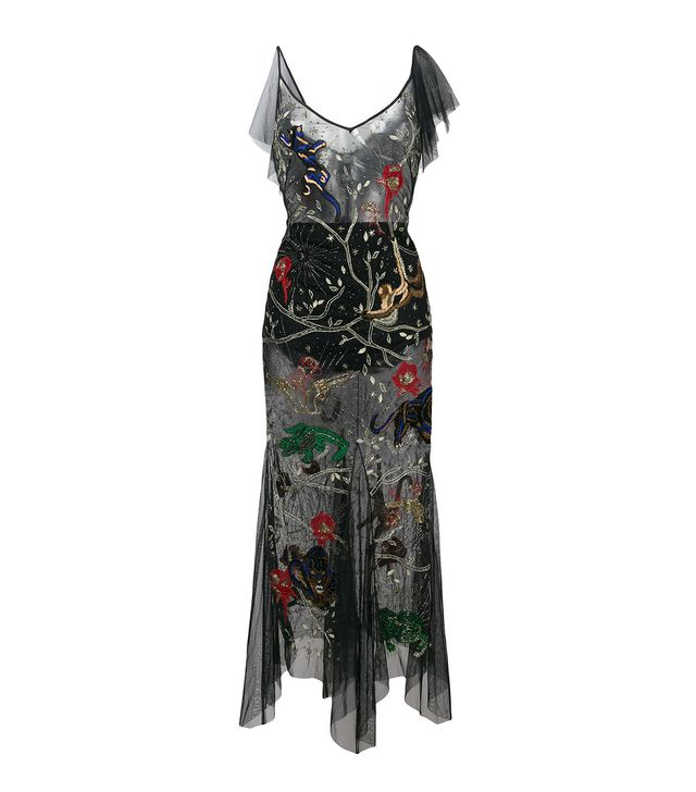 embroidered sheer dress