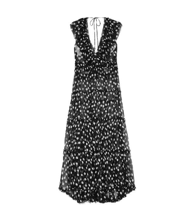 Mansfield Ruffled Polka-dot Crinkled Silk-georgette Maxi Dress