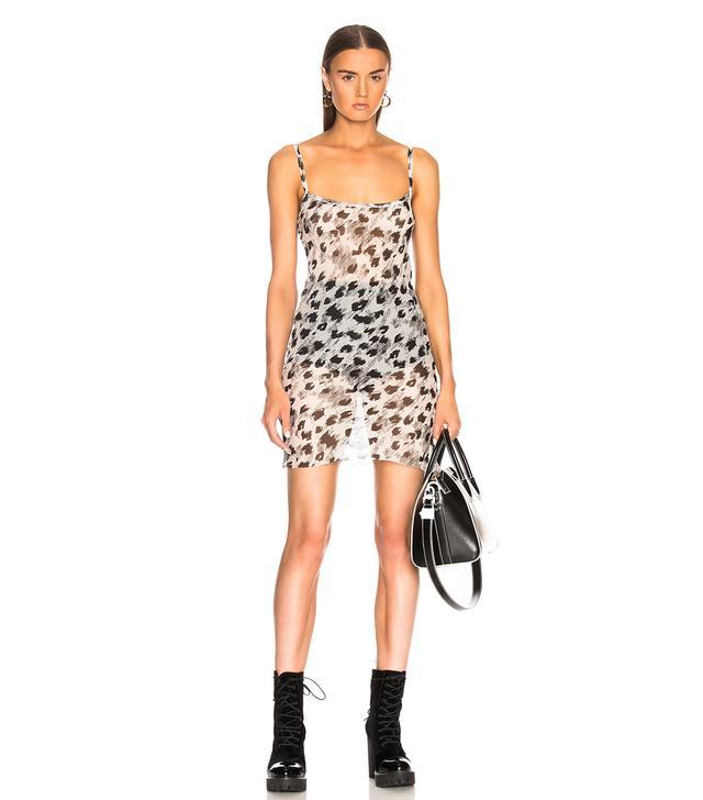 Ann Demeulemeester Leopard Print Slip Dress