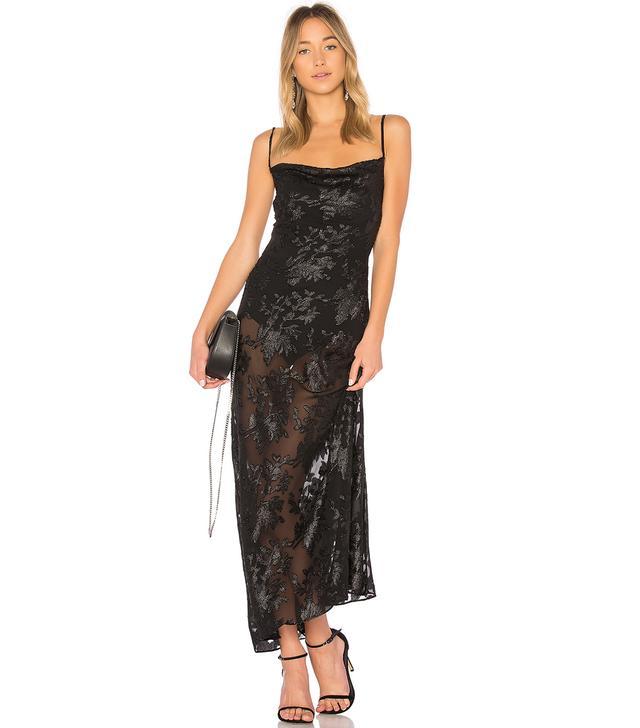Dress 603 in Black. - size L (also in M,S,XS, XXS)