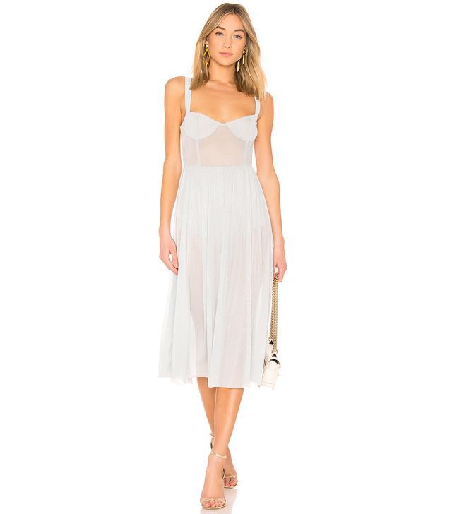 Rina Dress in Metallic Silver. - size M (also in L,S,XL, XS)