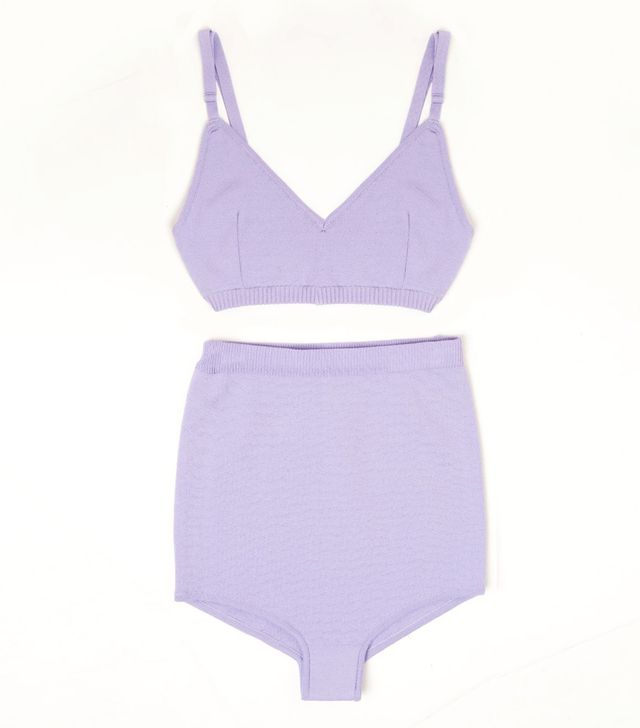 Repeller Lilac Two-Piece Knit Swimsuit
