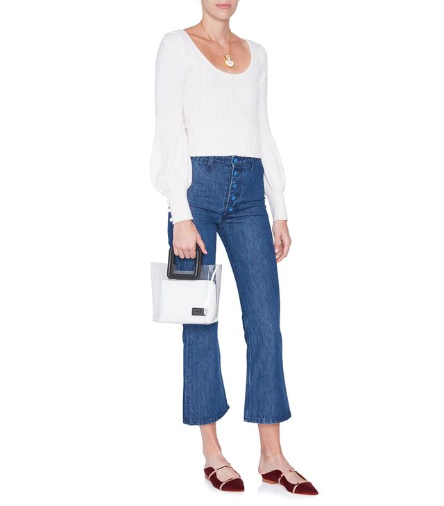 Staud Helena Button Front Jeans