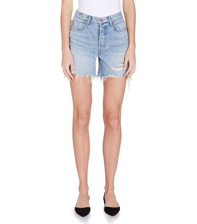 Grlfrnd Denim Jourdan Lo-Rise Tomboy Denim Shorts
