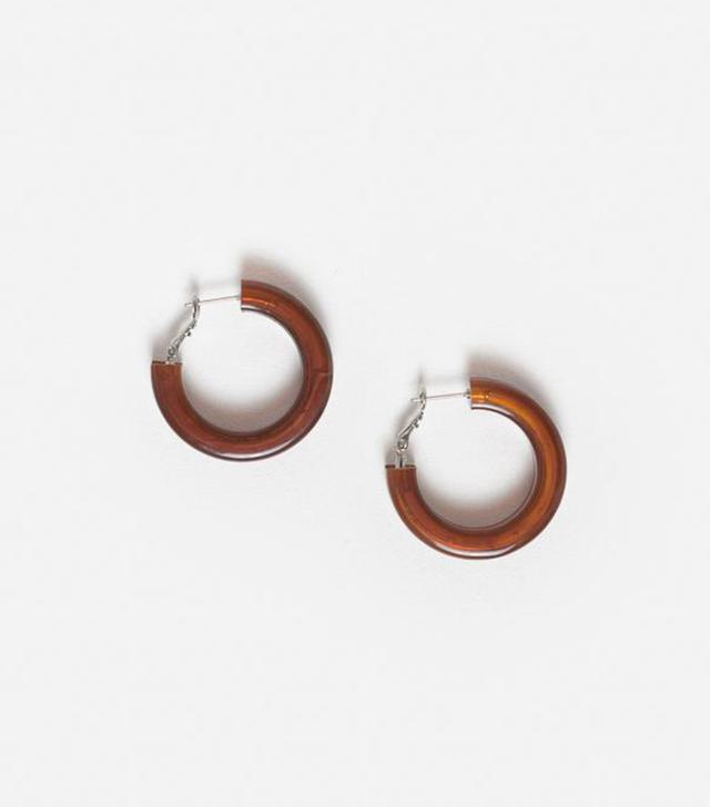 Rachel Comey Moto Earrings in Brown