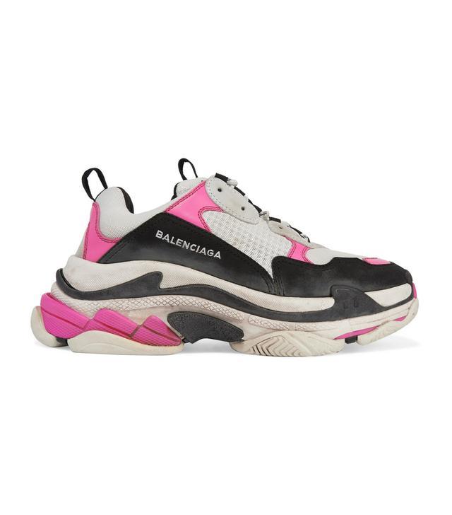 Triple S Mesh And Nubuck Sneakers