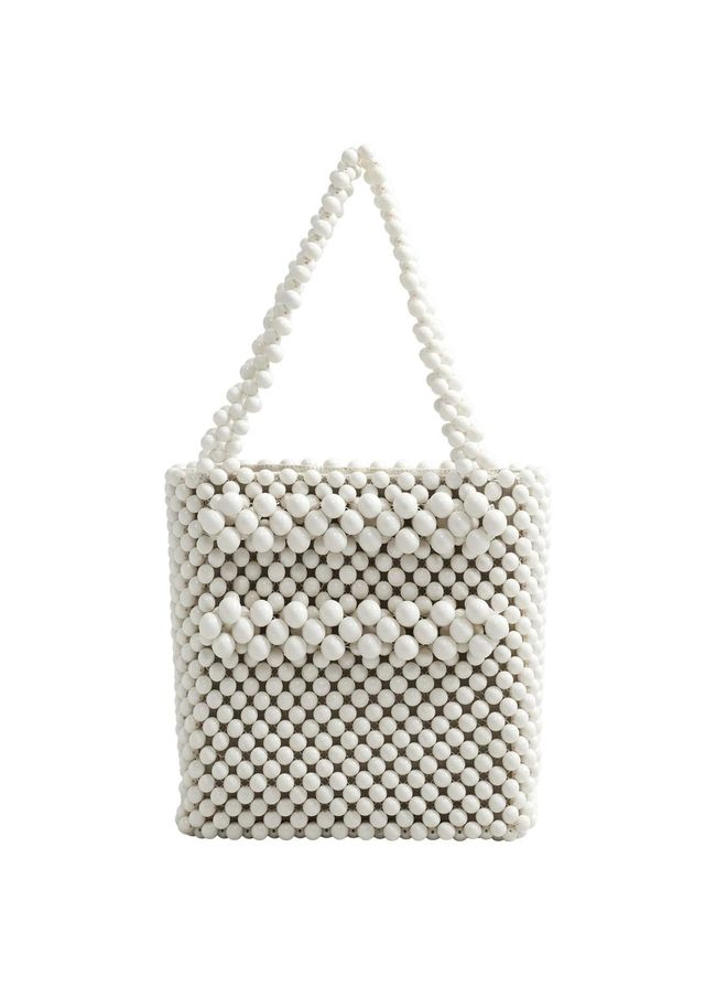 Beaded shopper bag