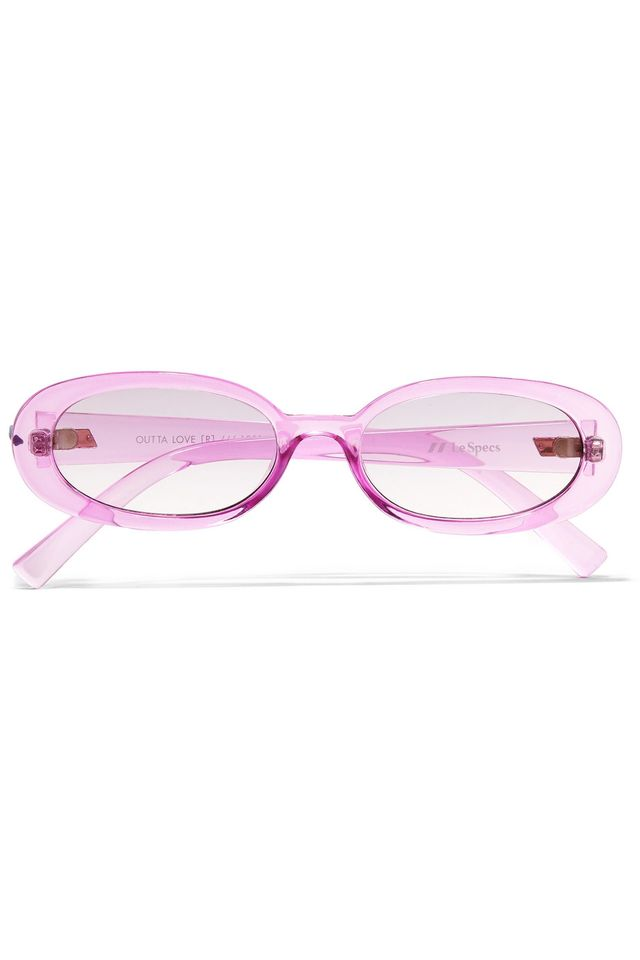 Le Specs Outta Love Oval Frame Acetate Sunglasses