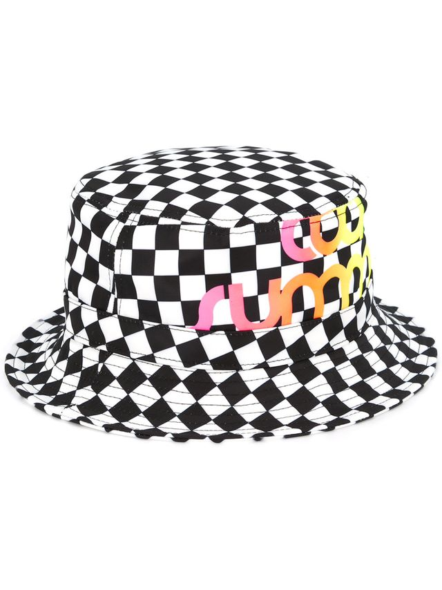 Ports V Cool Summer Checkered Print Hat