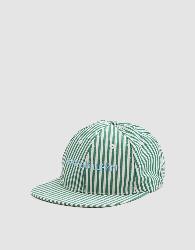 Walk of Shame Cyrillic Cap in White + Green