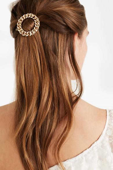 Rosantica Ingranaggio Gold-Tone Pearl Hairclip