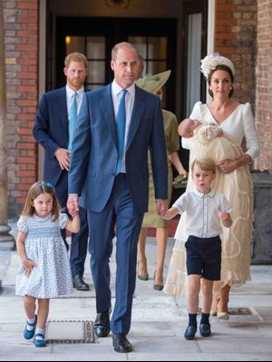 The Royal Family Wore Color-Coordinated Outfits to Prince Louis's Christening