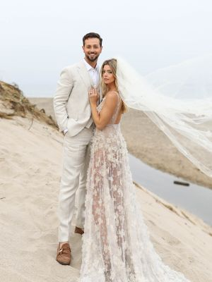 """Ashley Greene's """"Naked"""" Wedding Dress Looks Straight Out of a Fairy Tale"""