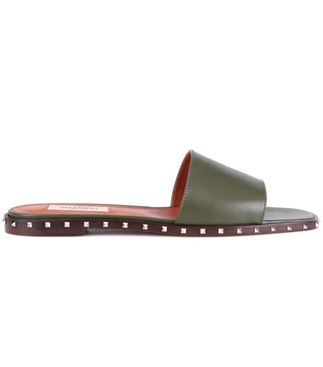 Valentino Garavani Rockstud Leather Slides