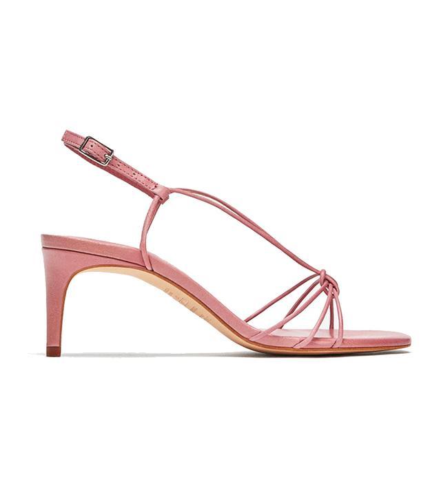 Zara Leather Strappy High Heel Sandals