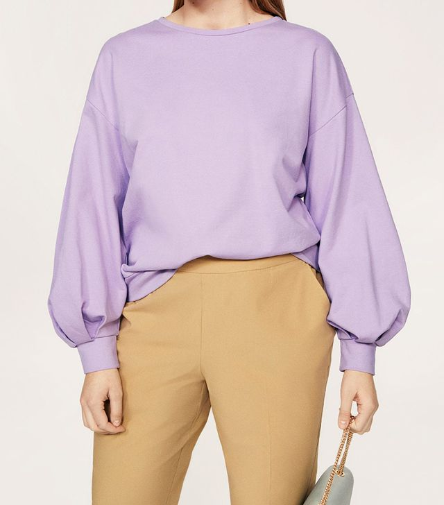 Violeta by Mango Puffed Sleeves Sweatshirt