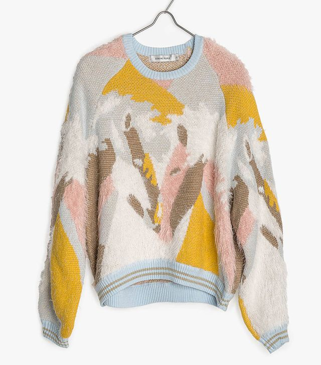 Genuine People Multi Color Soft Knit Sweater