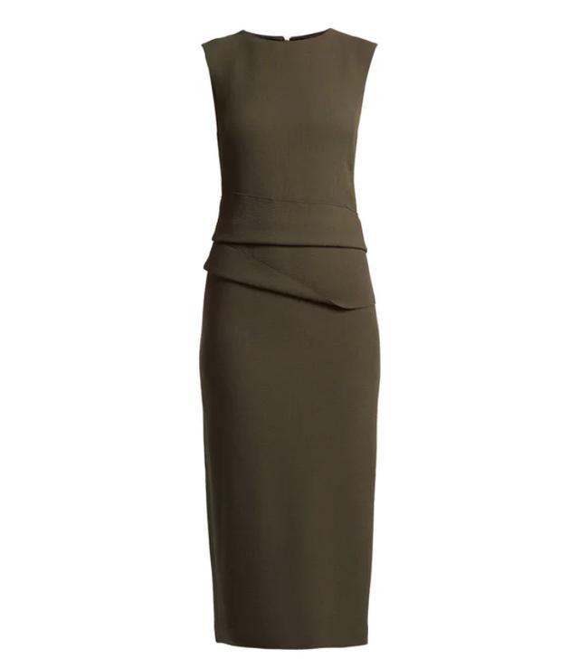 karl capp Luna Wool-Crepe Dress