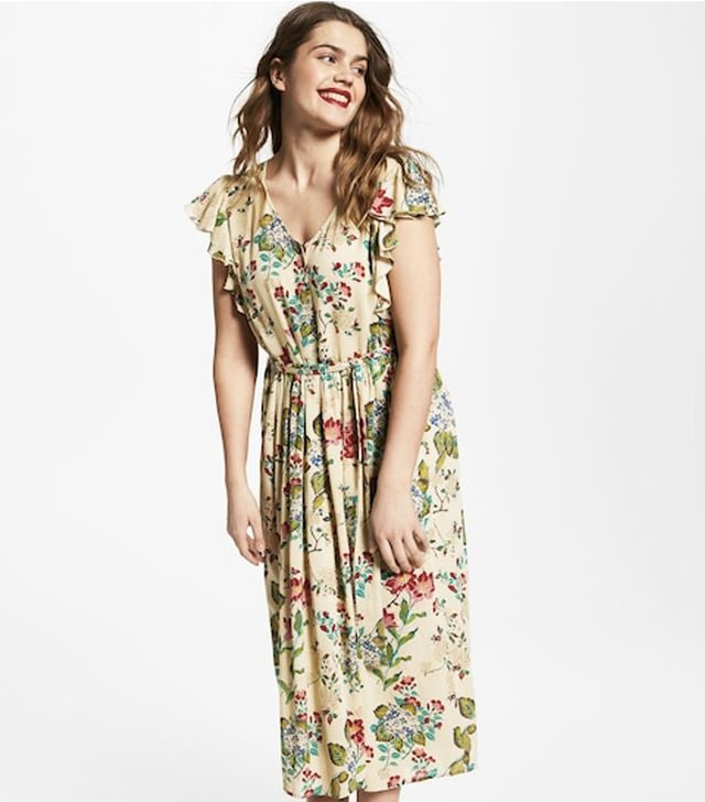 Violeta by Mango Printed Long Dress