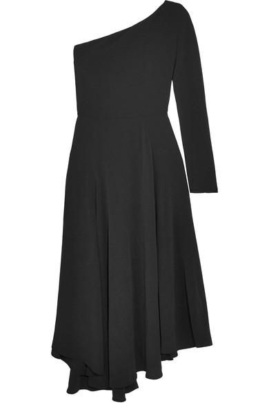 Hestia One-shoulder Crepe Midi Dress