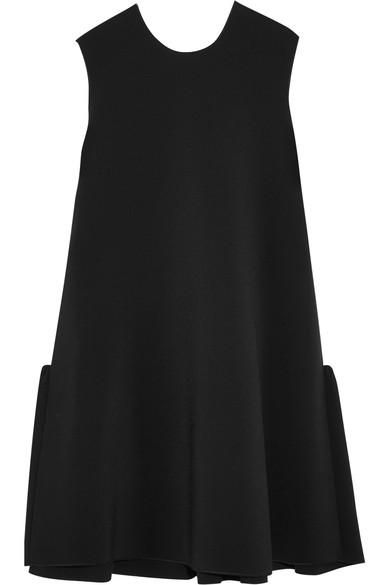 Fuji Two-tone Cady And Crepe Mini Dress