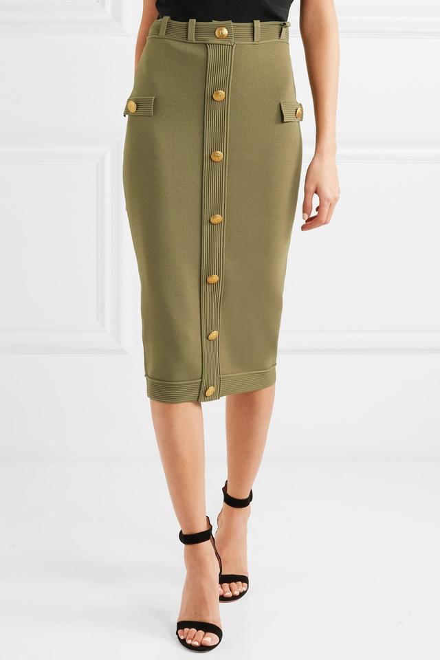 Embellished Jersey Skirt