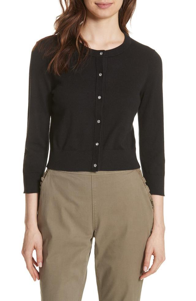 Kate Spade New York Jewel Button Crop Cardigan