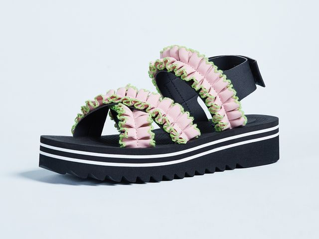 Ruffle Detailed Sandals