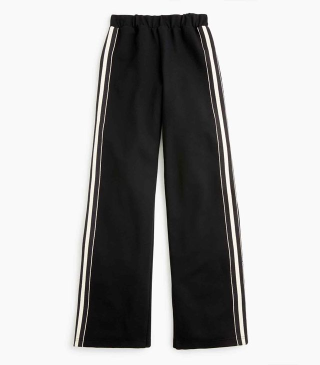 Universal Standard for J.Crew Wide-Leg Ponte Pant With Stripe