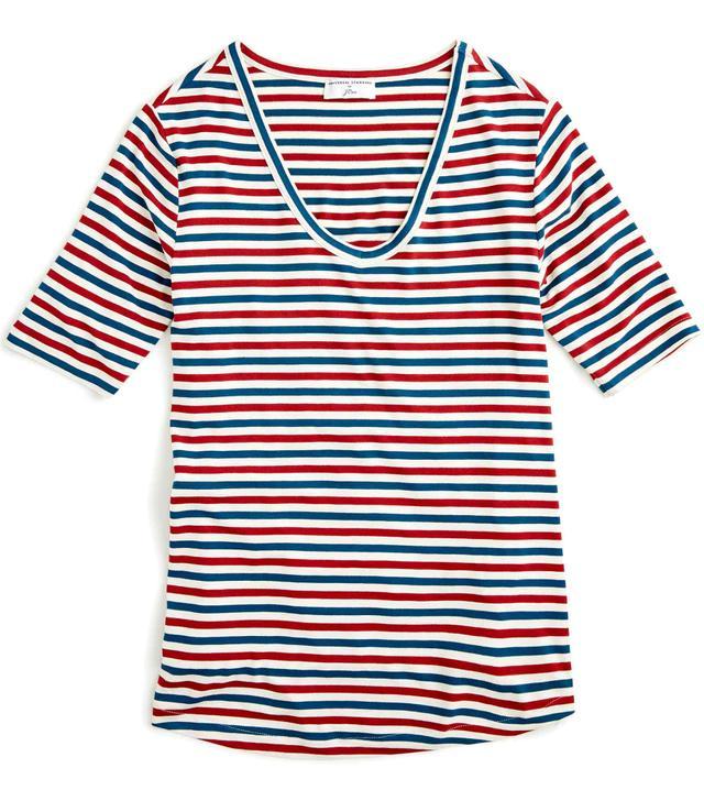 Universal Standard for J.Crew Jersey V-Neck T-Shirt