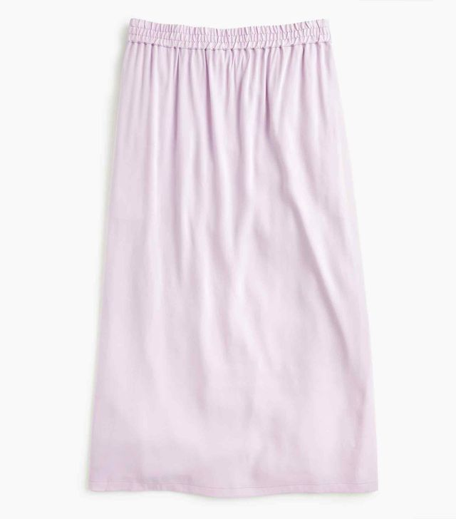 Universal Standard for J.Crew Shirred Midi Skirt