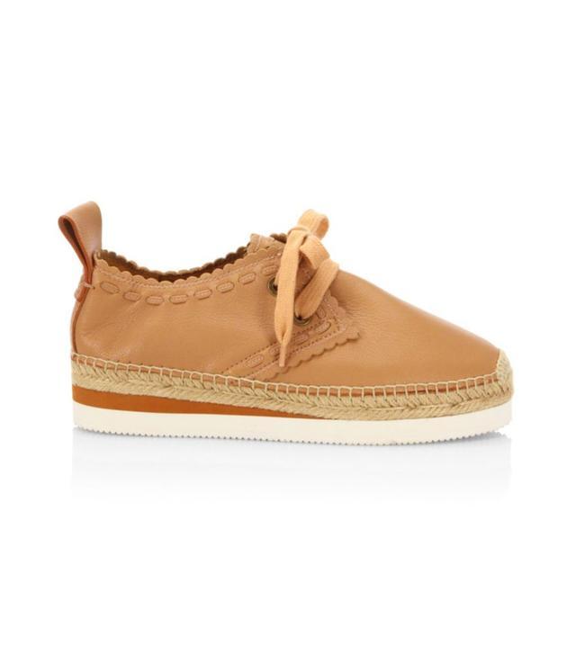 Glyn Leather Espadrille Sneakers