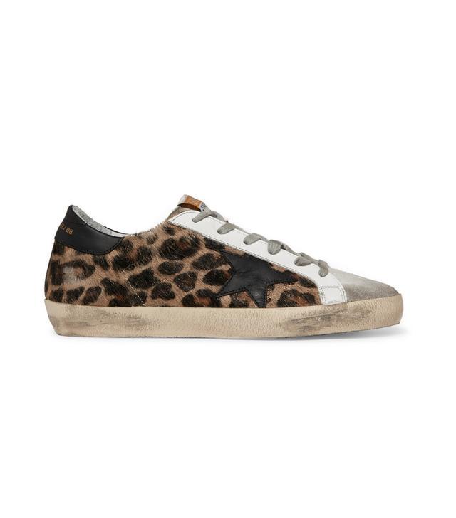 Superstar Distressed Leopard-print Calf Hair