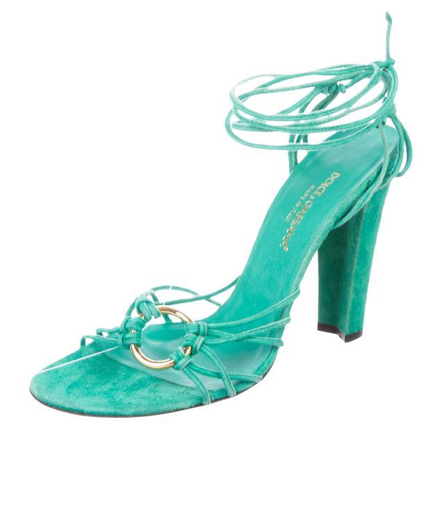 Dolce & Gabanna Suede Multistrap Sandals