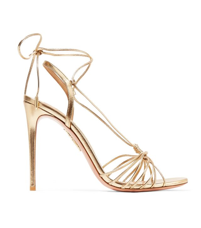 Whisper Lace-up Metallic Leather Sandals