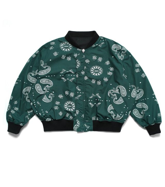 FourTwoFour Reversible Paisley Bomber
