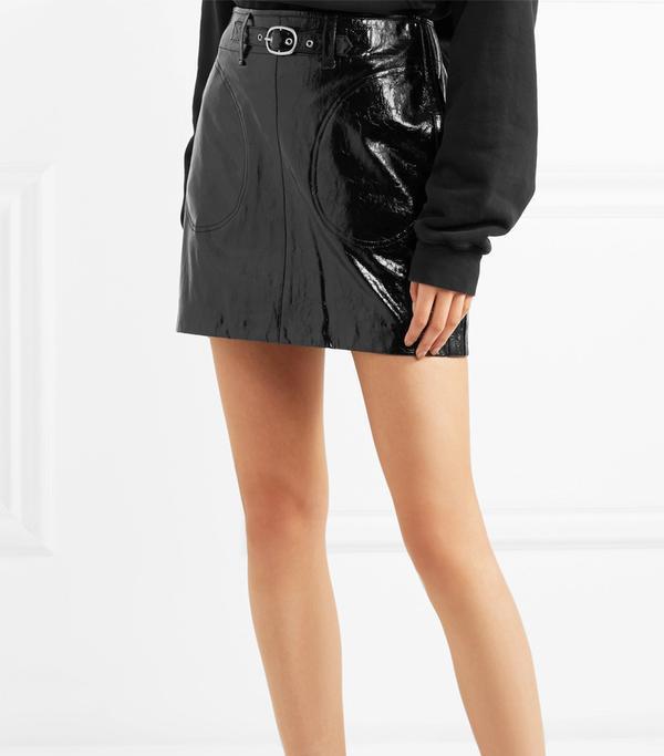 Toni Patent-leather Mini Skirt