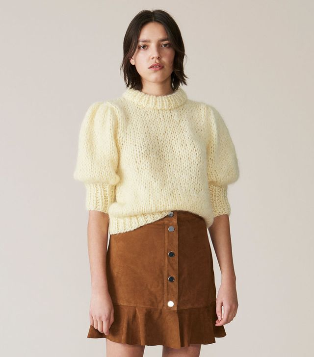 Ganni The Julliard Mohair Puff Sleeve Pullover