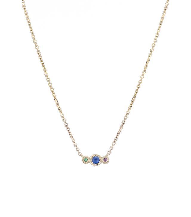 Jennie Kwon Designs Blue Sapphire Journey Necklace