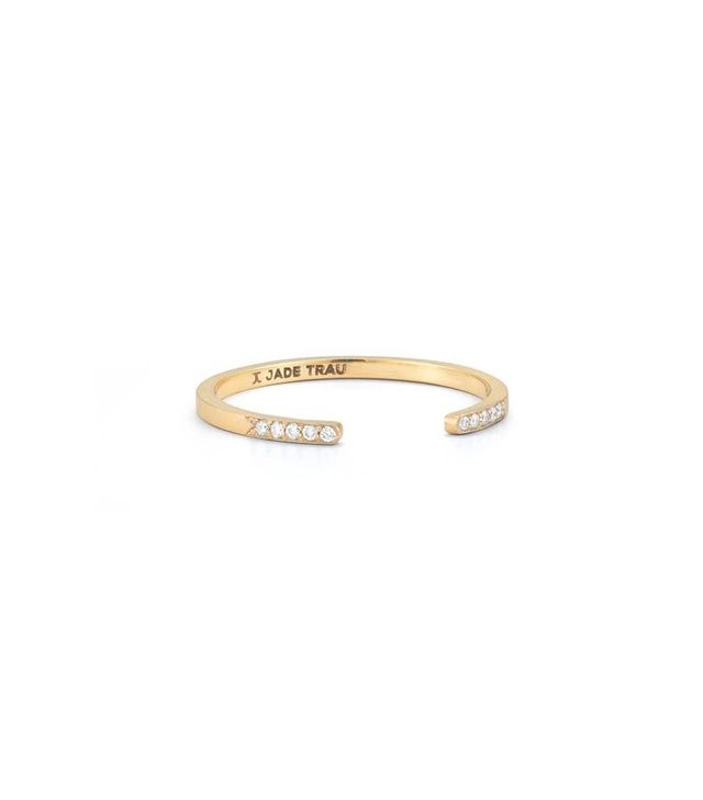 Jade Trau Typeset Stacking Ring