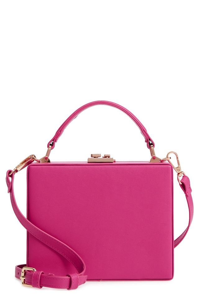 Faux Leather Crossbody Bag -