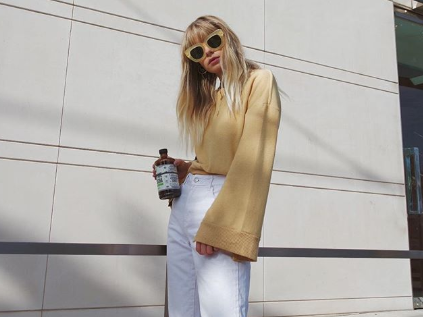 cropped white jeans we're loving this season