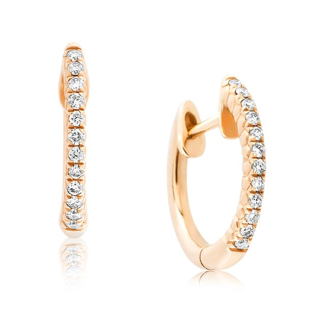 Aristides Fine Jewels Mia Diamond Yellow Gold Hoops