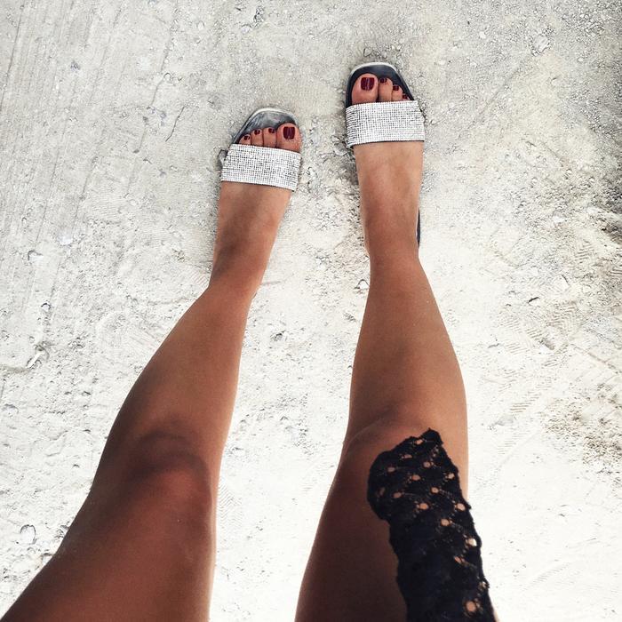 Zara Crystal Sandals