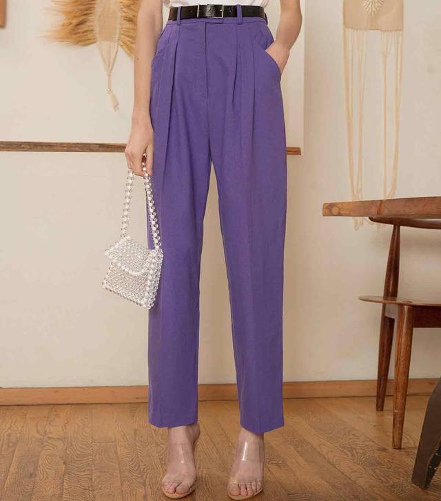 Pixie Market Purple High-Waisted Pants