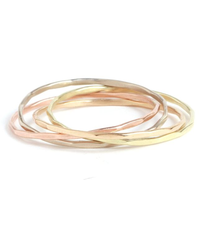 Melissa Joy Manning Mixed Gold Interlocking Rings