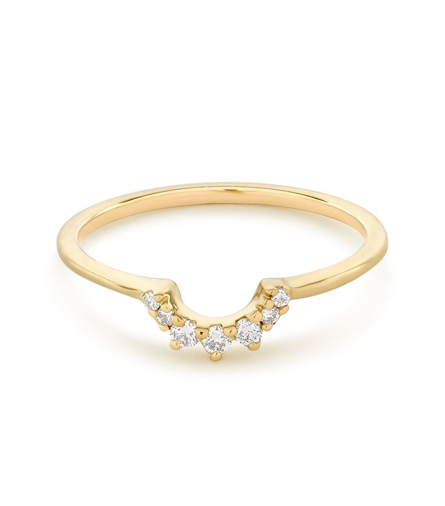 Anna Sheffield Tiara White Diamond Ring