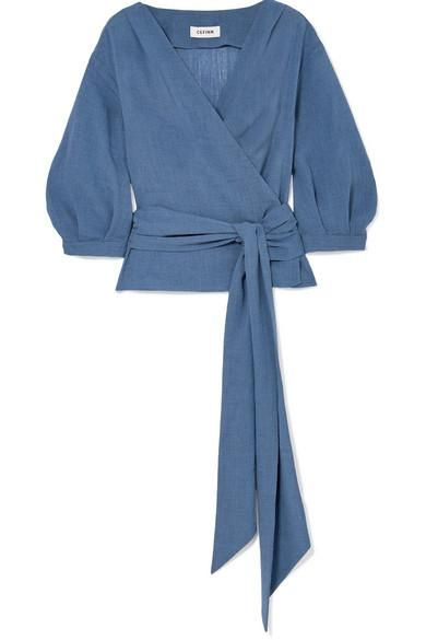 Voile Wrap Top