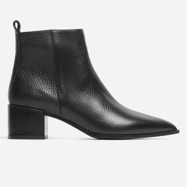 Women's Pointy Boot by Everlane in Black Pebbled, Size 10.5