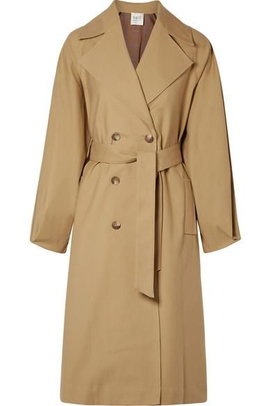 Kamille Checked Woven And Stretch-cotton Poplin Trench Coat